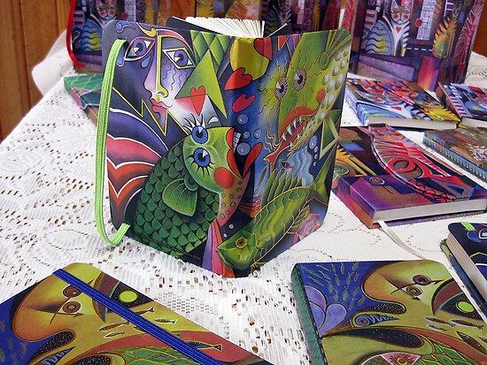 My art on journal covers  by Karin Zeller