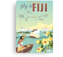 Coral Route - Fiji and Solent flying boat Canvas Print
