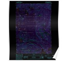 USGS Topo Map Washington State WA Spiral Butte 243897 1988 24000 Inverted Poster