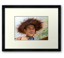Crazy Hatted Captain Framed Print