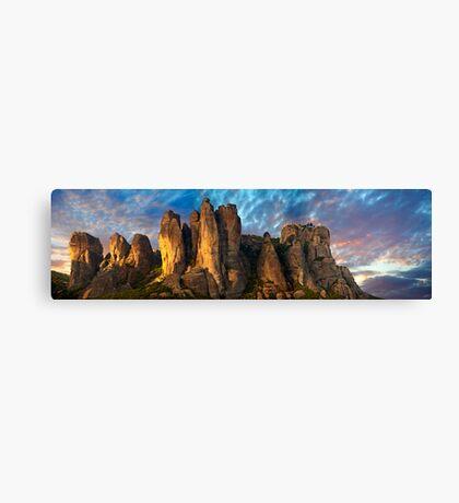 Meteora Mountain Monateries, Greece Canvas Print