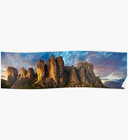 Meteora Mountain Monateries, Greece Poster