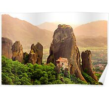 Meteora Mountain Monateries, Greece 2 Poster
