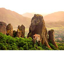 Meteora Mountain Monateries, Greece 2 Photographic Print