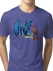 How To Train Your Dragon 'Toothless'  By EmegE  Tri-blend T-Shirt