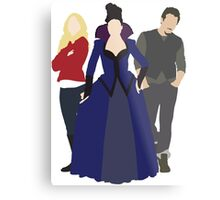 Emma, Regina, and Neal - Once Upon a Time Metal Print