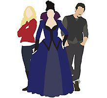 Emma, Regina, and Neal - Once Upon a Time Photographic Print