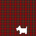 Royal Stewart Tartan Plaid and Scottie Dog by ArtformDesigns