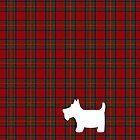 Royal Stewart Tartan Plaid and Scottie Dog by ArtformDesigns
