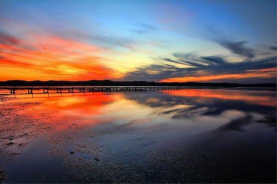 Sunset @ Long Jetty, Tuggerah Lake by Arfan Habib