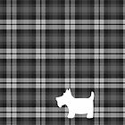 Grey Watch Tartan Plaid with Scottie Dog by ArtformDesigns