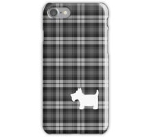Grey Watch Tartan Plaid with Scottie Dog iPhone Case/Skin