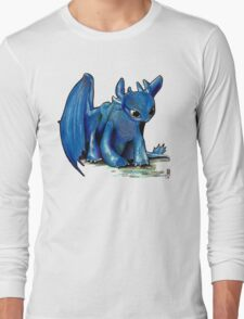 How To Train Your Dragon 'Toothless' by EmegE (Edited) Long Sleeve T-Shirt