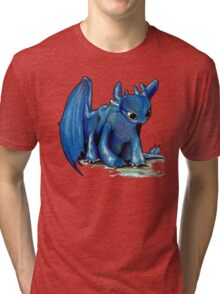 How To Train Your Dragon 'Toothless' by EmegE (Edited) Tri-blend T-Shirt
