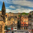 The Grassmarket from Granny Green&#x27;s Steps by Tom Gomez