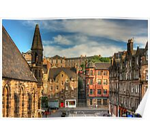 The Grassmarket from Granny Green's Steps Poster