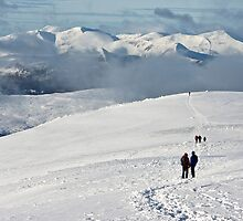 Helvellyn in White by Annabelle Studholme