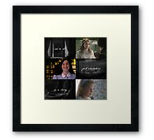 Once Upon a Time: We're all Just Characters in a Story Framed Print