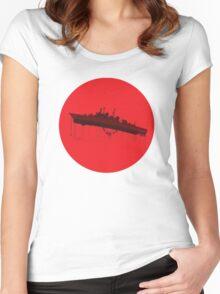 Neon Genesis Evangelion - EVA Unit 02 (Boat Lift) Women's Fitted Scoop T-Shirt