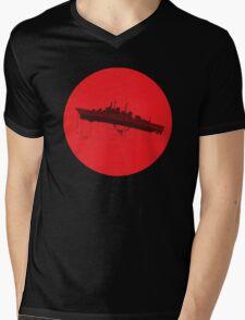 Neon Genesis Evangelion - EVA Unit 02 (Boat Lift) Mens V-Neck T-Shirt