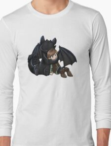 How To Train Your Dragon Manga Design Long Sleeve T-Shirt