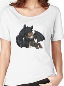 How To Train Your Dragon Manga Design Women's Relaxed Fit T-Shirt