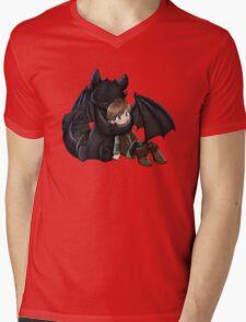 How To Train Your Dragon Manga Design Mens V-Neck T-Shirt