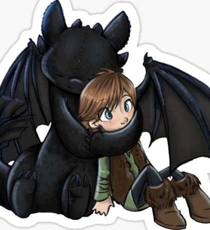 How To Train Your Dragon Manga Design Sticker