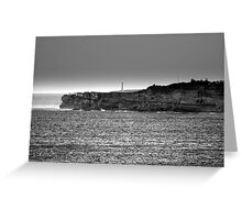 north head manly - watching... Greeting Card