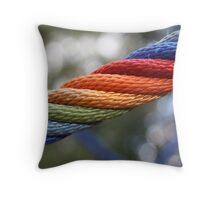 Rainbow Rope Throw Pillow