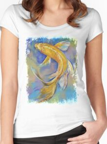 Orenji Butterfly Koi Women's Fitted Scoop T-Shirt
