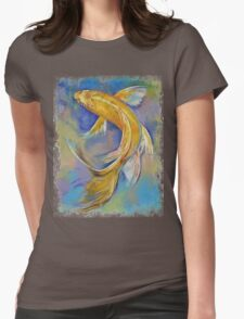 Orenji Butterfly Koi Womens Fitted T-Shirt