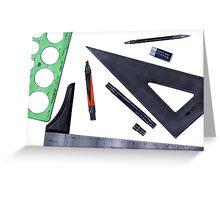 Drafting Tools Greeting Card