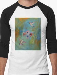 Hummingbirds Men's Baseball ¾ T-Shirt