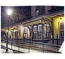 Snowy Night at the Station - 2009.01.10 *featured Poster