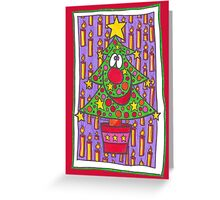 Christmas Tree With Candles Greeting Card