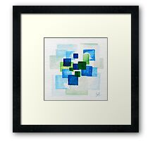 Blue and Green Abstraction Framed Print