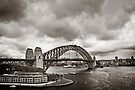 Sydney Harbour Bridge in B&W by Adriana Glackin