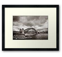 Sydney Harbour Bridge in B&W Framed Print