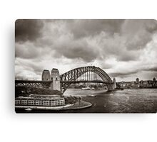 Sydney Harbour Bridge in B&W Canvas Print