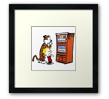 Calvin Hobbes Vending Machine Framed Print