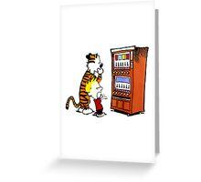 Calvin Hobbes Vending Machine Greeting Card