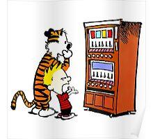 Calvin Hobbes Vending Machine Poster