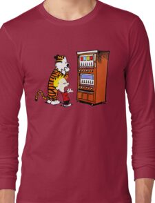 Calvin Hobbes Vending Machine Long Sleeve T-Shirt