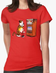 Calvin Hobbes Vending Machine Womens Fitted T-Shirt