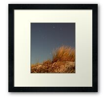 Night, Sand-Dune Grass Framed Print