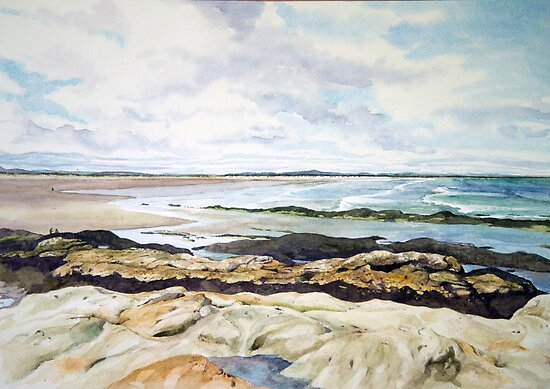 Beach at St.Andrews Scotland by Joyce Grubb