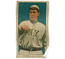 Benjamin K Edwards Collection Bugs Raymond New York Giants baseball card portrait 001 Poster