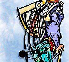 harp man by gary barbati