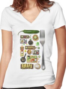 Mexican Food Women's Fitted V-Neck T-Shirt